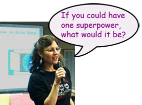 Jacqueline Jules speaking: if you could have one superpower, what would it be?
